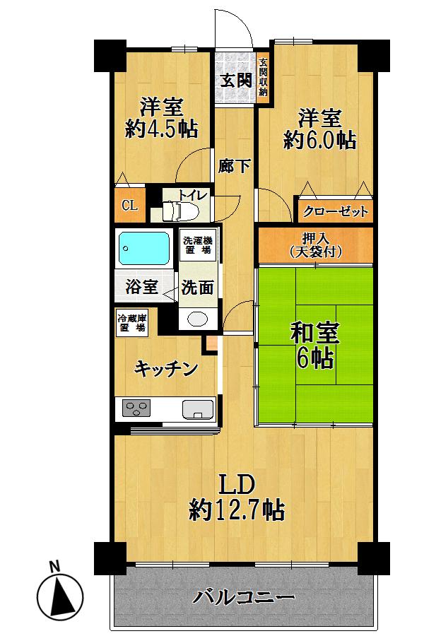 宝マンション新守山第8 <505号室><font size=2 color=ff0000><b>new!</b></font>