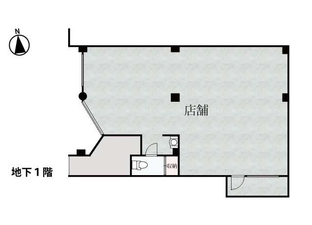 貸店舗 <名東区極楽2丁目>B1階